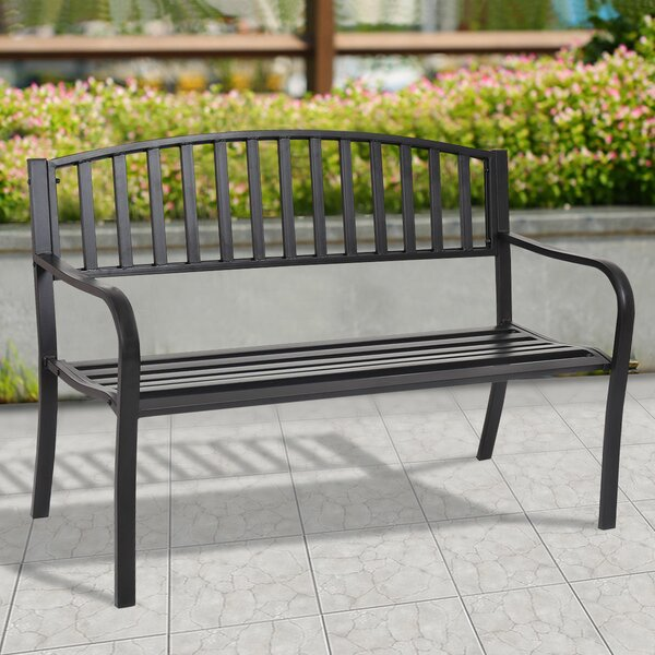 Morin Patio Garden Bench by Alcott Hill Alcott Hill