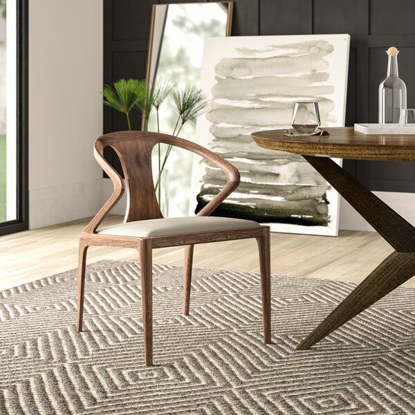 Mulkey Solid Wood Dining Chair by Mercury Row