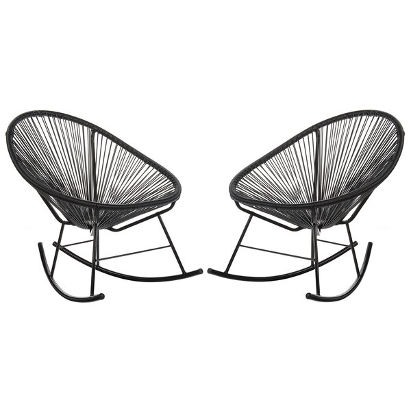 Sunnyside Woven Patio Chair (Set of 2) by Bungalow Rose Bungalow Rose