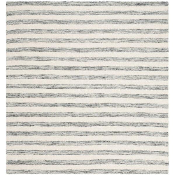 Mahaney Hand-Woven Gray/Ivory Area Rug by Brayden Studio