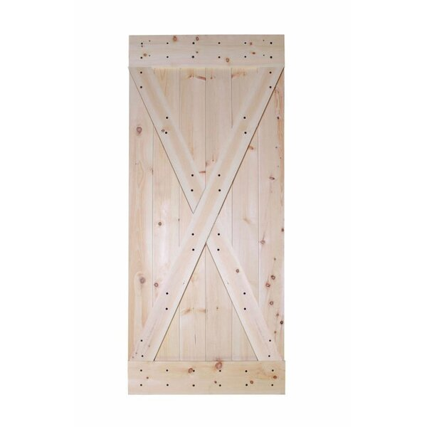 X-Panel Solid Wood Room Divider Wood Slab Interior Barn Door by Calhome