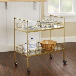 Vadnais 2-Tier Rectangular Bar Cart by Mercury Row