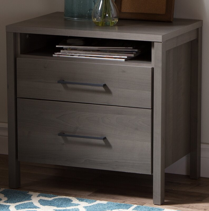 South Shore Gravity 2 Drawer Nightstand Amp Reviews Wayfair