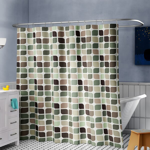 Swinford Geometric 15 Piece Shower Curtain Set + Hooks