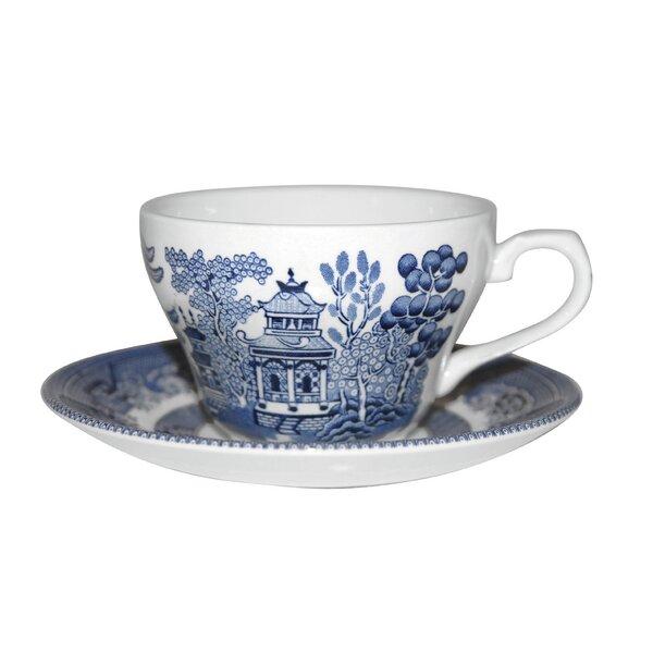 Willow Georgian 2 Piece Teacup Set by Churchill