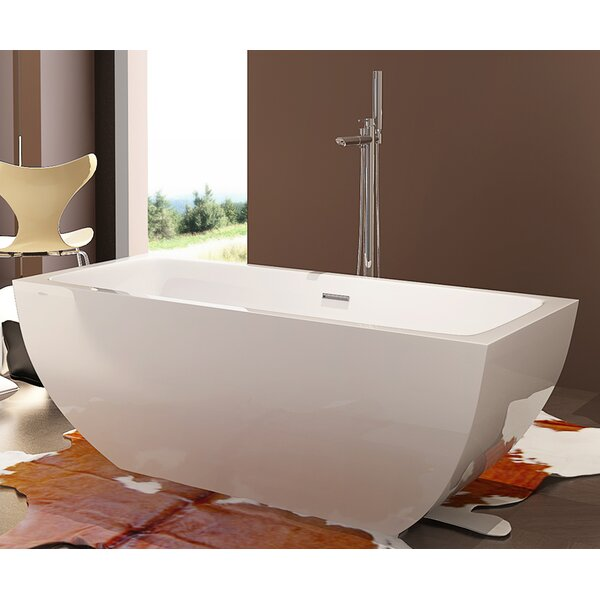 HelixBath Velia 67 x 31.5 Soaking Bathtub by Kardiel