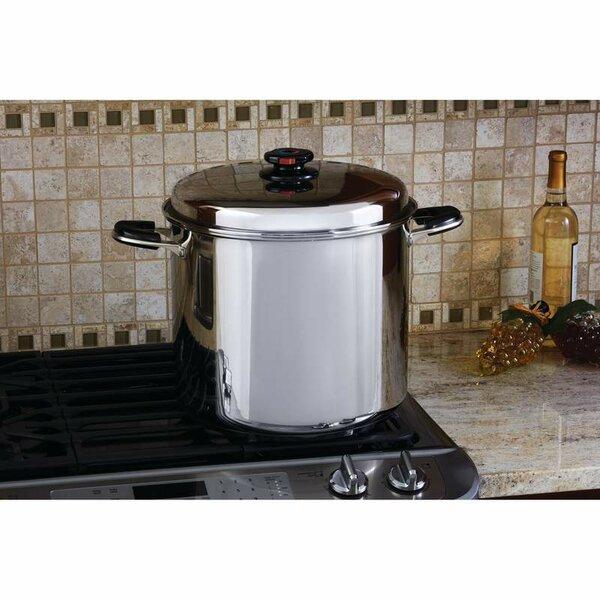 Precise Heat 24 Quart Stock Pot with Lid by Chef's Secret