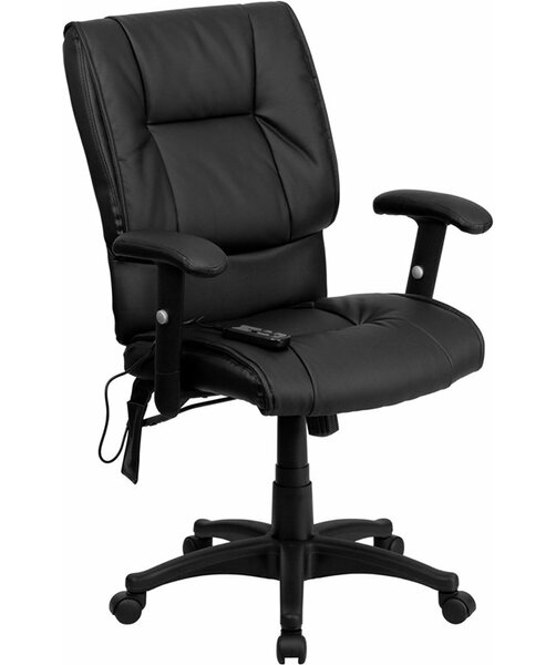 Kruger Mid-Back Massaging Ergonomic Executive Chair by Symple Stuff
