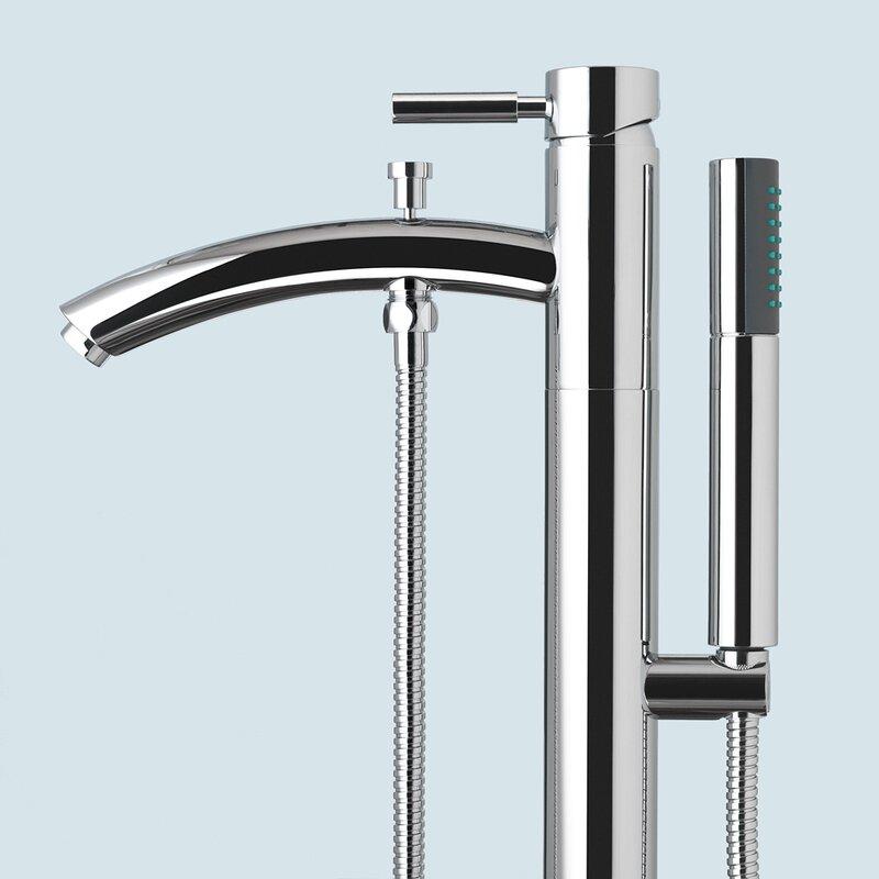 floor mount tub filler. Taron Floor Mount Tub Filler Hand Shower