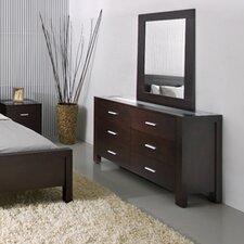 Ellicott 6 Drawer Dresser and Mirror Set by Wade Logan