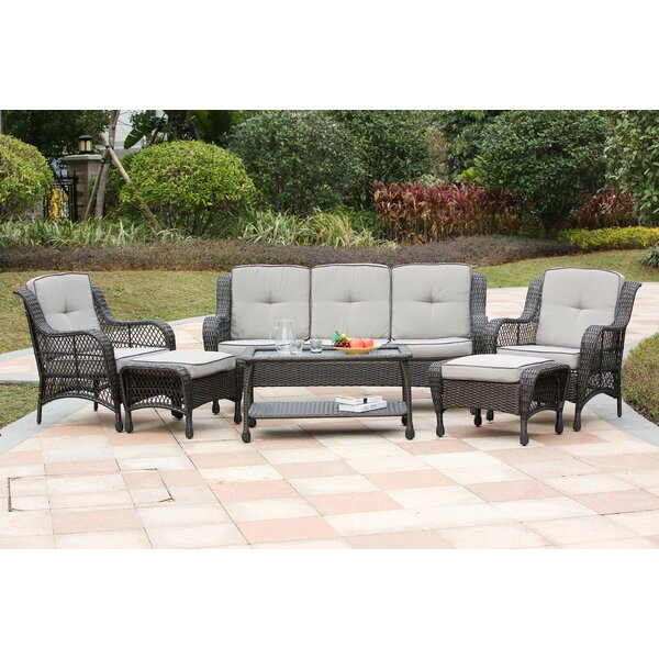 Mayview 6 Piece Rattan Sofa Seating Group with Cushions by Bay Isle Home