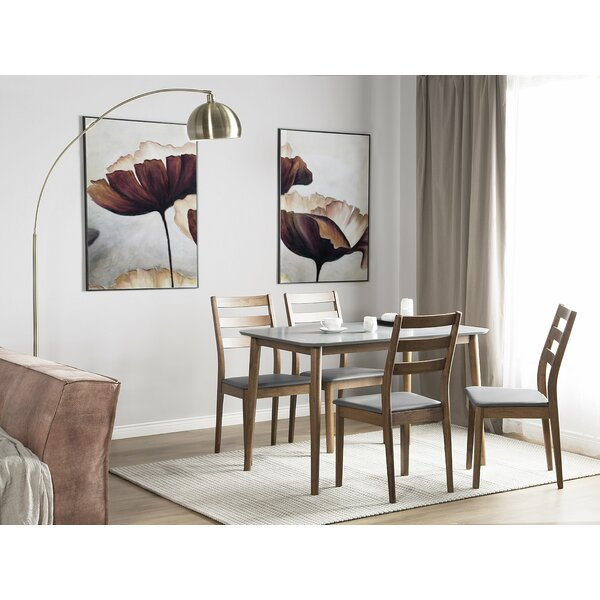 Caban 5 Piece Solid Wood Dining Set by Union Rustic