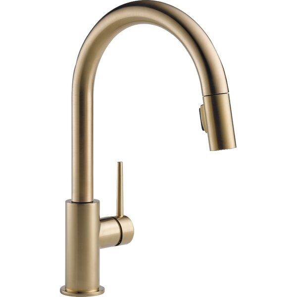 Trinsic Pull Down Single Handle Kitchen Faucet with MagnaTite® Docking and Diamond Seal Technology by Delta
