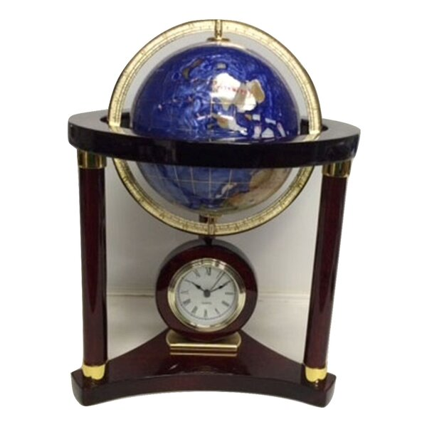 Globe Wood Tabletop Clock by Canora Grey