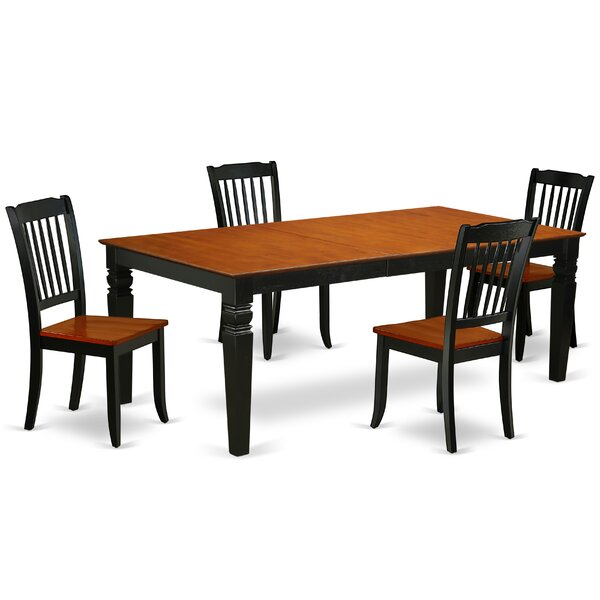 Kowalczyk 5 Piece Extendable Solid Wood Dining Set by August Grove