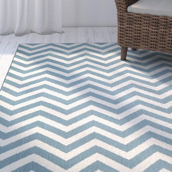 Halliday Blue/Cream Indoor/Outdoor Area Rug by Beachcrest Home