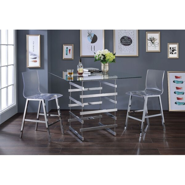 Ieuan 3 Piece Counter Height Dining Set by Orren Ellis Orren Ellis