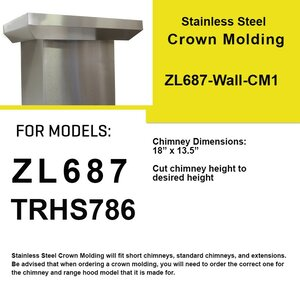Range Hood Crown Molding Profile 1