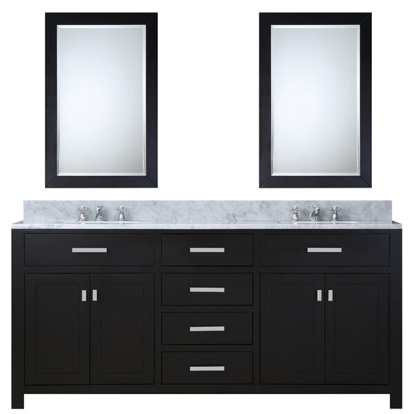 Minnetrista 60 Double Bathroom Vanity Set with Mirror