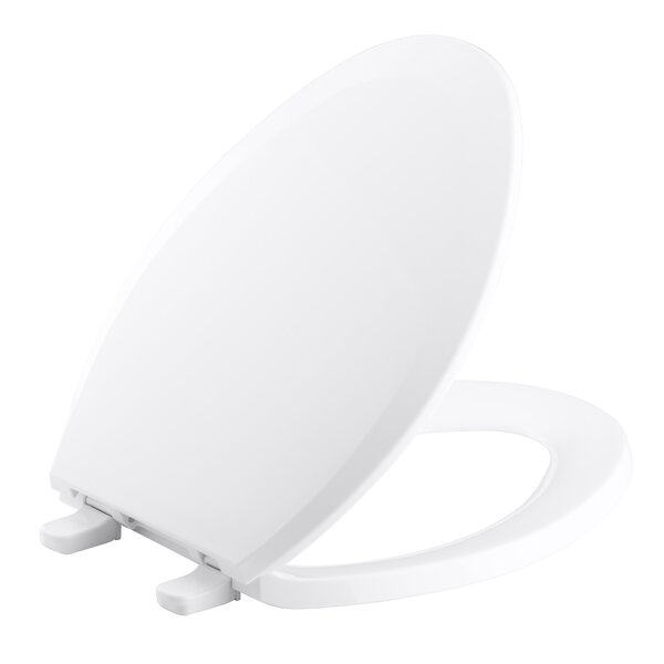 Lustra with Quick-Release Hinges Elongated Toilet Seat by Kohler
