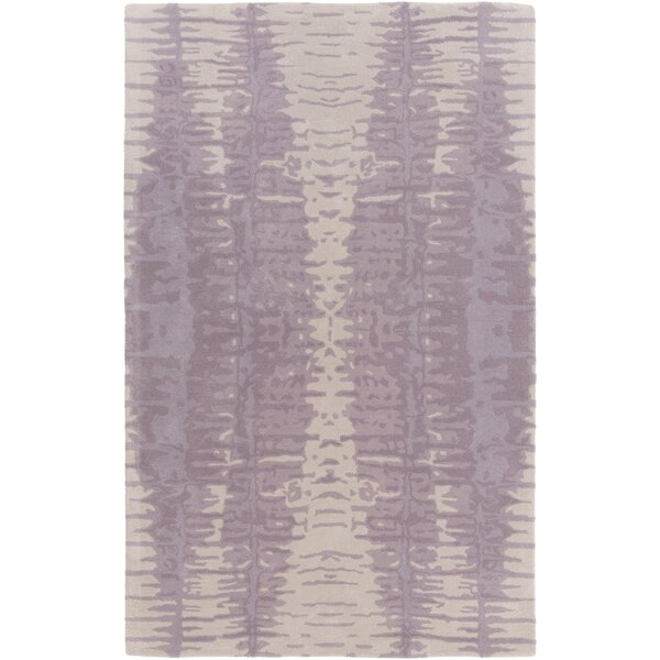 Romola Hand-Tufted Lavender/Light Gray Area Rug by Ivy Bronx