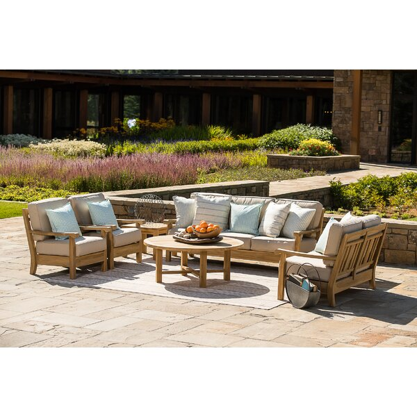 Chasity 4 Piece Sofa Seating Group with Sunbrella Cushions by August Grove