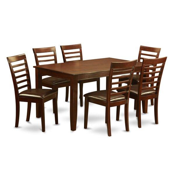 Sisneros 7 Piece Solid Wood Dining Set