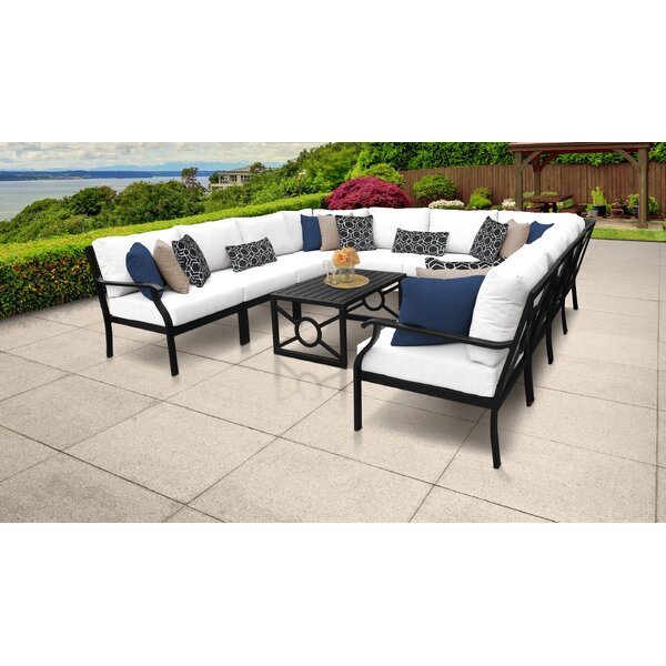 Madison Ave. 11 Piece Sectional Seating Group with Cushions by Darby Home Co