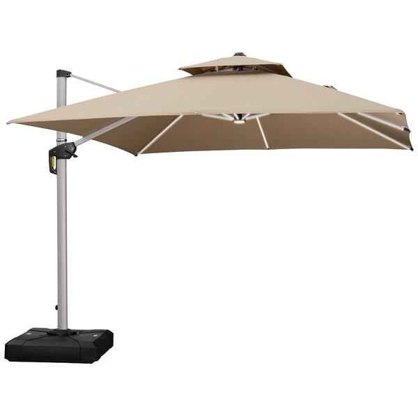 Sella 9' Square Cantilever Umbrella by Latitude Run