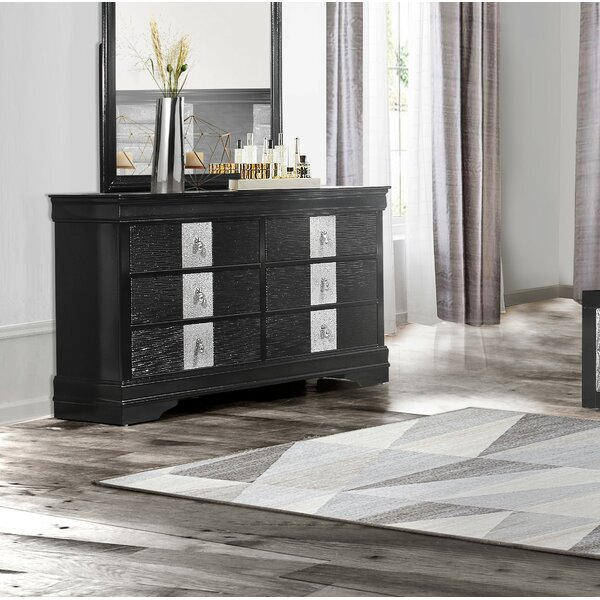 Farias 6 Drawer Double Dresser by Everly Quinn