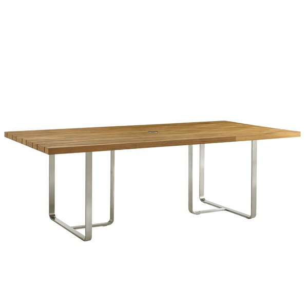 Tres Chic Stainless Steel Dining Table by Tommy Bahama Outdoor