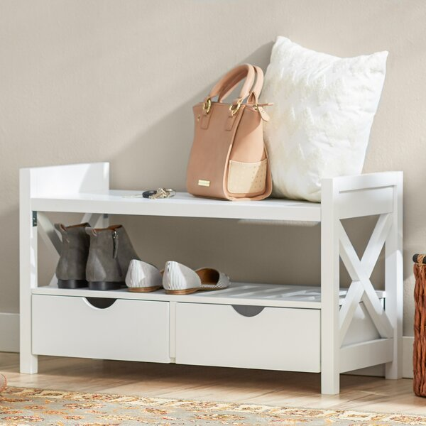 Cyril Wood Storage Bench by Andover Mills