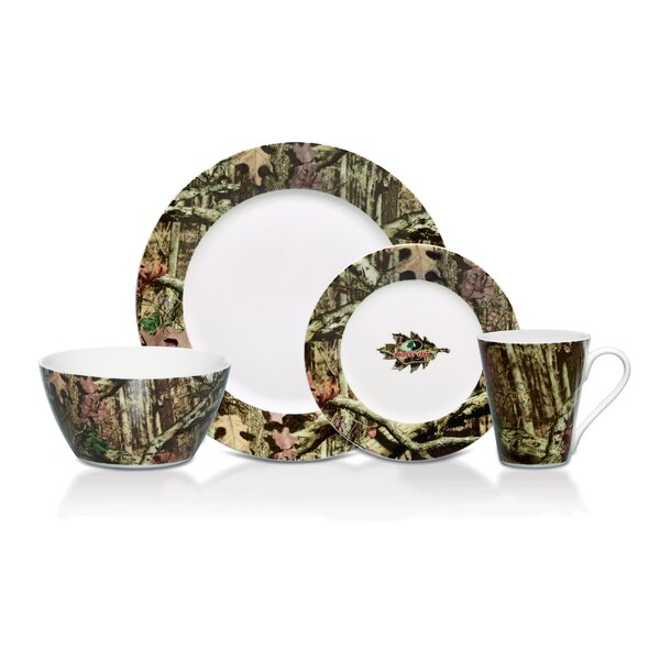 Mossy Oak Break Up Infinity 16 Piece Dinnerware Set, Service for 4 by Mossy Oak