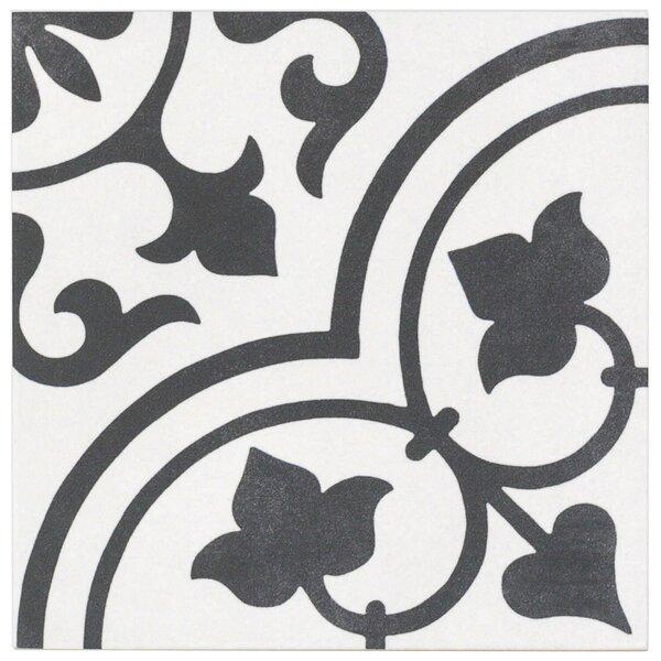 Sintra Ornate Matte 9 x 9 Porcelain Field Tile in Gray by Splashback Tile