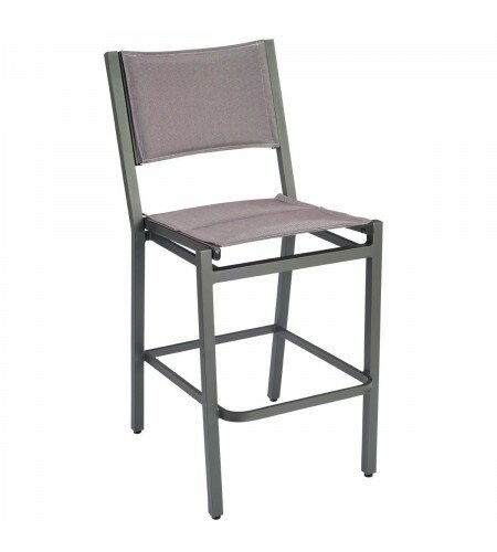 Palm Coast Sling 29.75 Patio Bar Stool by Woodard