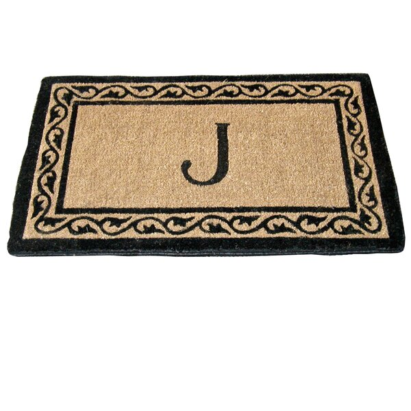 Monogram Mat Creel Ivy Border Coco Doormat by Geo