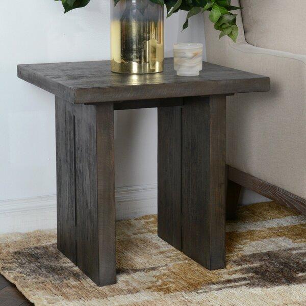 Ivar Solid Wood Trestle End Table By Gracie Oaks