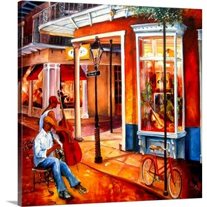 'Jazz on Royal Street' by Diane Millsap Painting Print on Canvas by Canvas On Demand