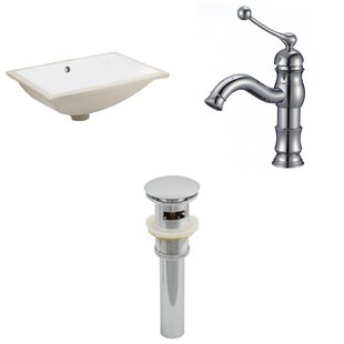 Buying CUPC Ceramic Rectangular Undermount Bathroom Sink with Faucet and Overflow By Royal Purple Bath Kitchen
