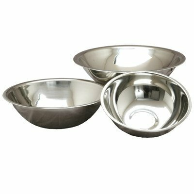 3 Piece Stainless Steel Mixing Bowl Set by YBM Home