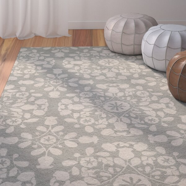 Roeser Gray Area Rug by Bungalow Rose