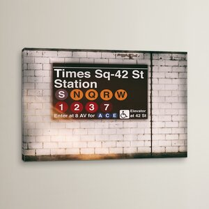'Subway Times Square - 42 St Station' Photographic Print on Wrapped Canvas by East Urban Home