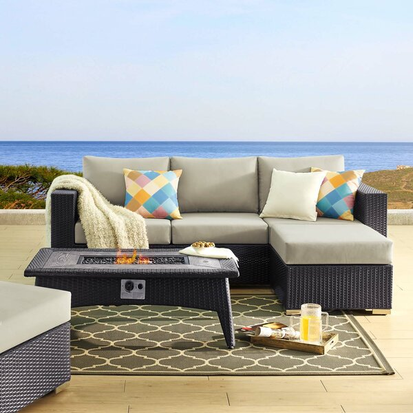 Brentwood 3 Piece Sectional Seating Group with Cushions by Sol 72 Outdoor