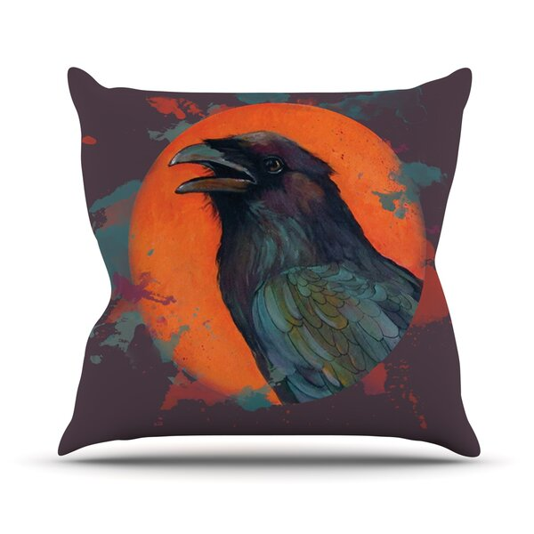 Raven Sun Alternate by Lydia Martin Outdoor Throw Pillow by East Urban Home