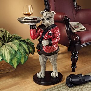 Rex, the Bachelor Bulldog Sculptural End Table by Design Toscano
