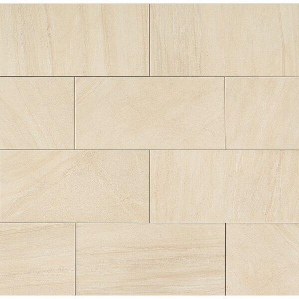 Purestone 12 x 24 Porcelain Wood Look/Field Tile in Beige by Bedrosians