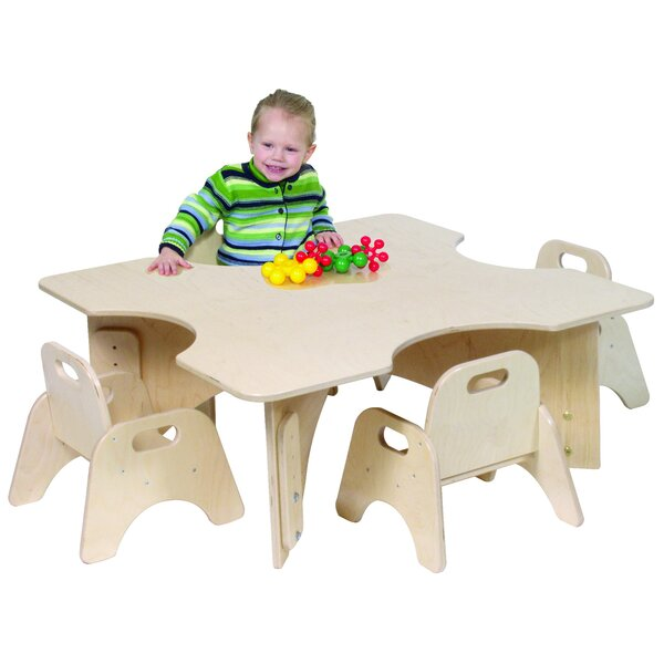 Infant-Toddler 36 Four Cutout Activity Table by Angeles