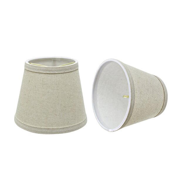 5 H Fabric Empire Lamp Shade ( Clip On ) (Set of 2)