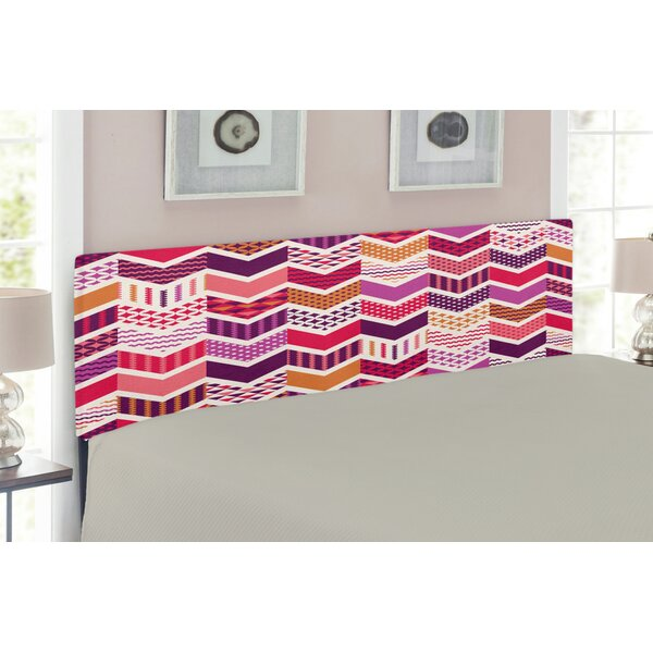 Chevron Upholstered Panel Headboard by East Urban Home