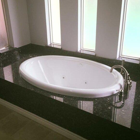 58 x 39 Whirlpool Bathtub by American Acrylic